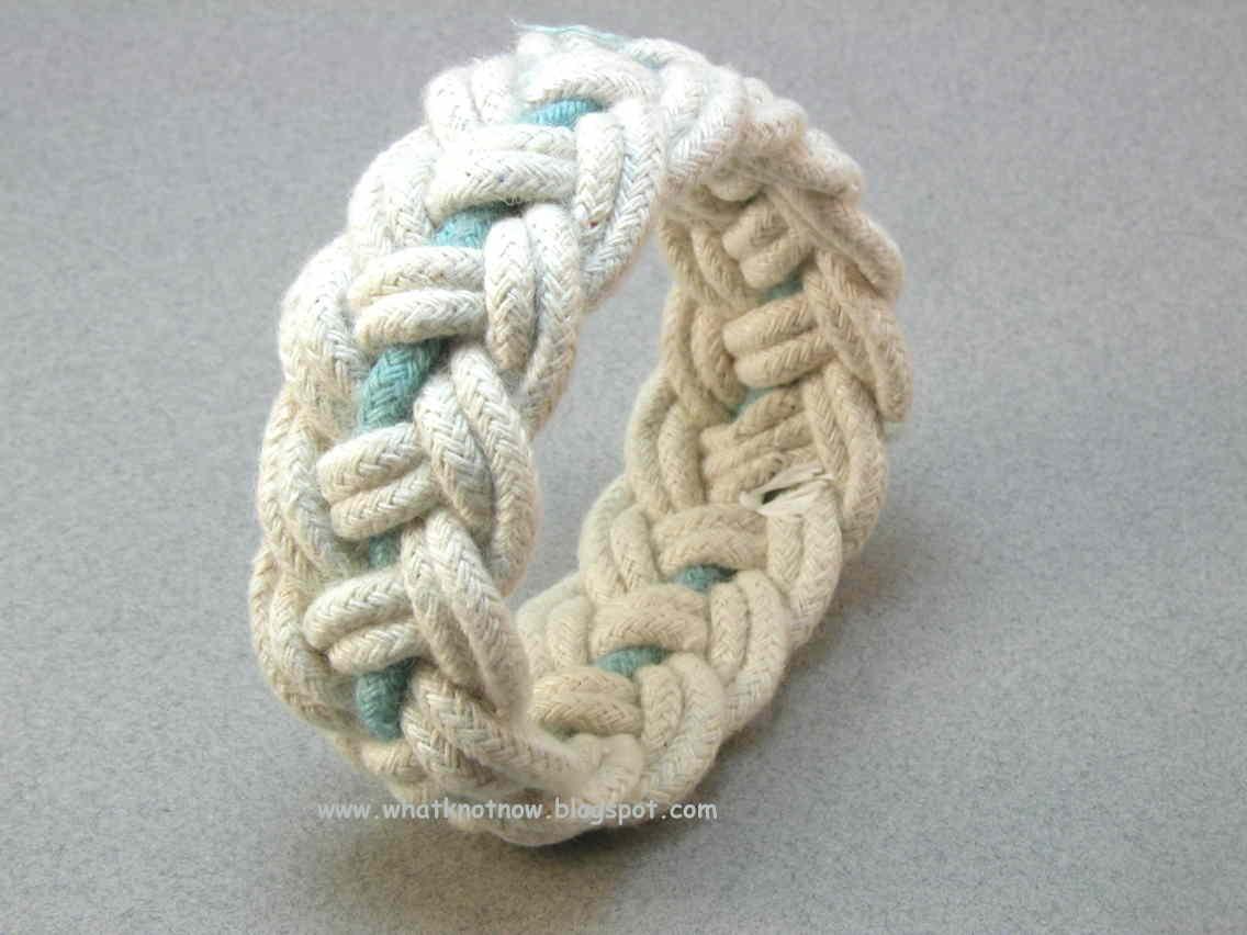Even Part Turks Head Knot Bracelets With Color Accents 2453 2454 2455