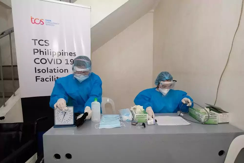 TCS Philippines Quarantine Facility for COVID-19-Positive Employees