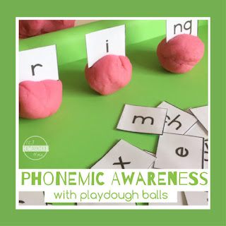 phonemic awareness playdough activity