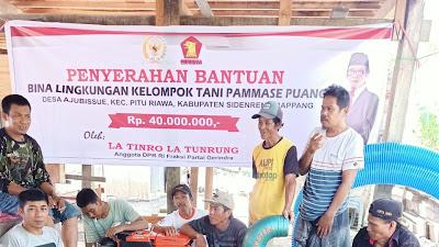 Kelompok Tani Pammase Puang, Terima Bantuan Pompa Air dan Uang Tunai dari Latinro Latunrung