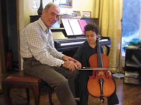 First Cello Lesson