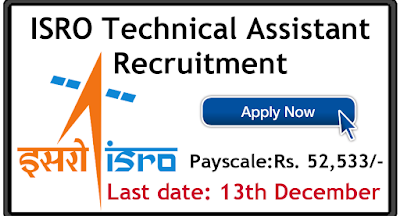 ISRO Technical Assistant Recruitment 2019