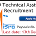 ISRO Technical Assistant Recruitment 2019