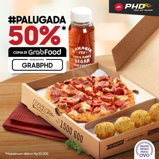 #PHD - #Promo VOucher GRABPHD di PALUGADA Diskon 50% Pakai GRABFOOD