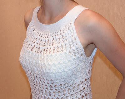 Летнее ажурное вязаное платье крючком фото 2011