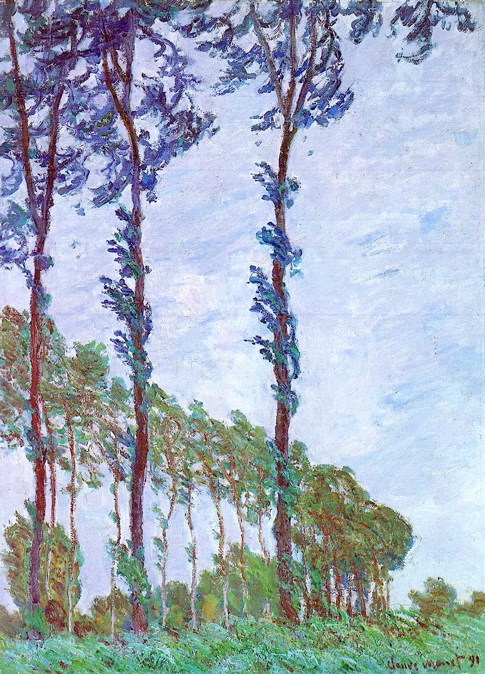 Claude Monet trees at Epte