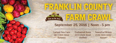 Fresh on the Farm at Enchanted Acres, TownsEnd Winery and Carlson Tree Farm, Sunday, September 25th