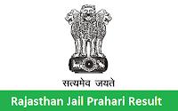 Rajasthan Jail Prahari Result