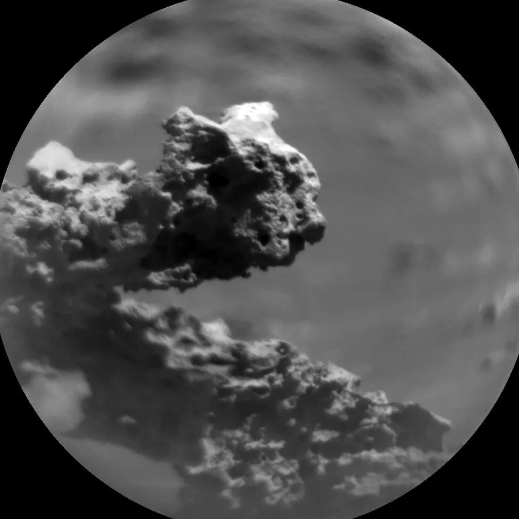 Estrutura rochosa em Marte chama a atenção da Nasa