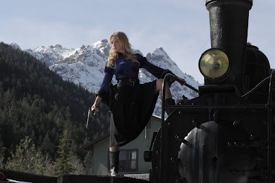 Karin Brauns has a train to catch in ONCE UPON A TIME IN DEADWOOD.