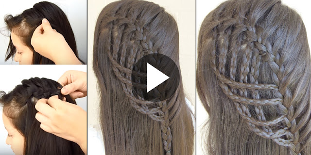 Learn - How To Create Waterfall Braid Hairstyle, See Tutorial