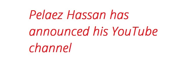 Pelaez Hassan has announced his YouTube channel
