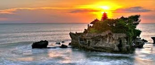 natural beautiful tanah lot sunset