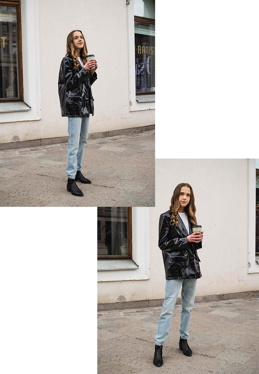 Kuinka stailata tekonahkainen bleiseri // How to style a faux leather blazer