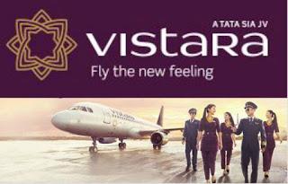 """Vistara slogan :Fly the New Feeling"""""""