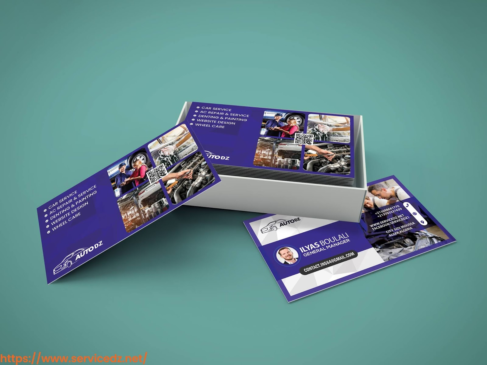 carte de visite- بطاقة أعمال- BUSINESS CARD- CARTE VISITE- كرت شخصي- servicedz