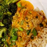 Mahi-mahi with Thai Coconut Curry Sauce