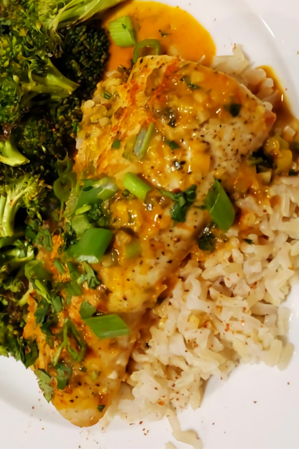 Mahi-mahi with Thai Coconut Curry Sauce
