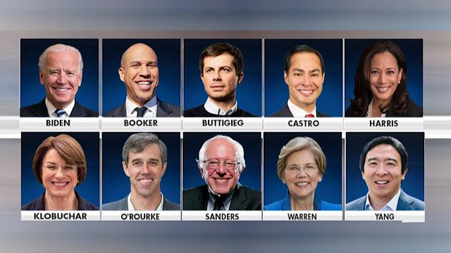 Potential Democratic presidential candidates Us election 2020