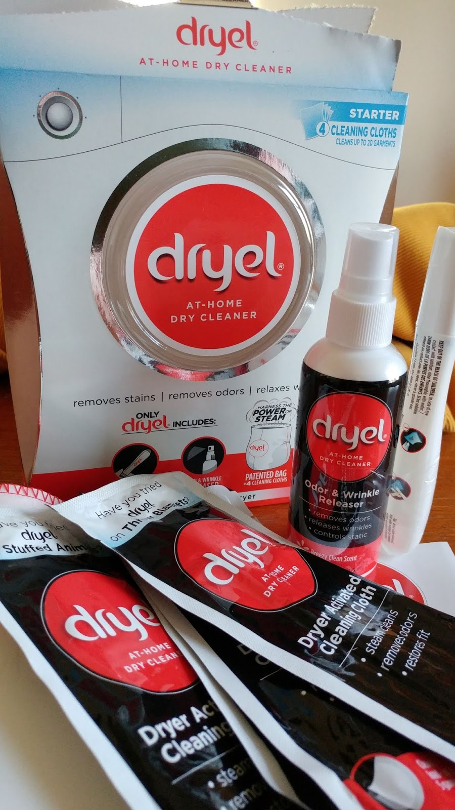 Save time & money by dry cleaning fabrics at home with Dryel #ad