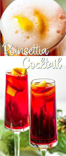 Poinsettia Cocktail Recipe #Cocktail #Drink