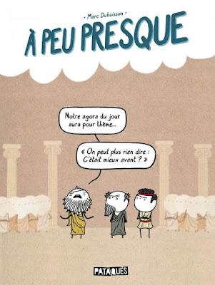 """couverture de """"A PEU PRESQUE"""" de Marc Dubuisson chez Delcourt"""