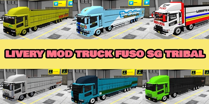 livery mod truck bussid fuso super great tribal wsp