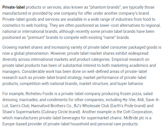 Image of Definition of Private label product with Example