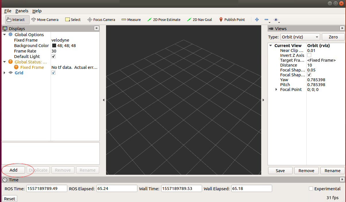 dominoc925: Displaying Velodyne PCAP data in ROS' RViz