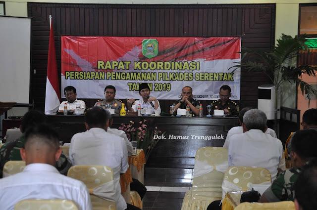 Bupati Hadiri Rapat Koordinasi Persiapan Pengamanan Pilkades Serentak Tahun 2019