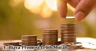 Biaya Promosi Lebih Murah merupakan salah satu kelebihan dan keuntungan bisnis online