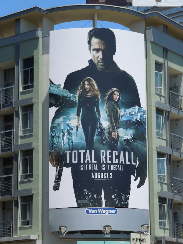 Total Recall movie billboard