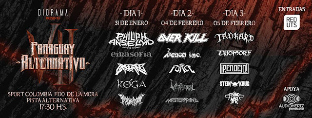Verthebral: banda é confirmada ao lado de gigantes do metal mundial no 'Paraguay Alternativo VII', veja!