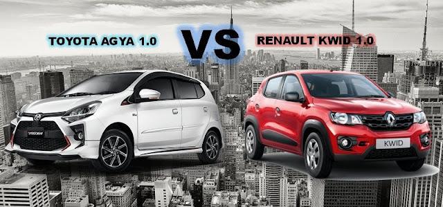 Perbandingan Renault Kwid 2020 vs Toyota Agya 2020