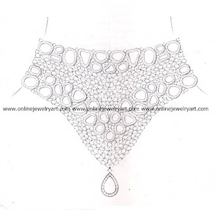 diamond choker necklace design sketches