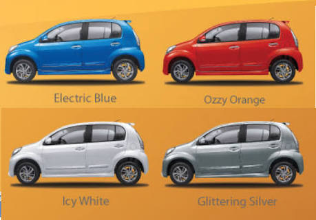 Warna sirion, Warna Daihatsu sirion, Warna Mobil sirion, Warna Mobil