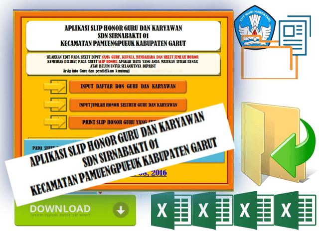 Aplikasi Cetak Slip Honor Guru dan Karyawan TU Format Excel