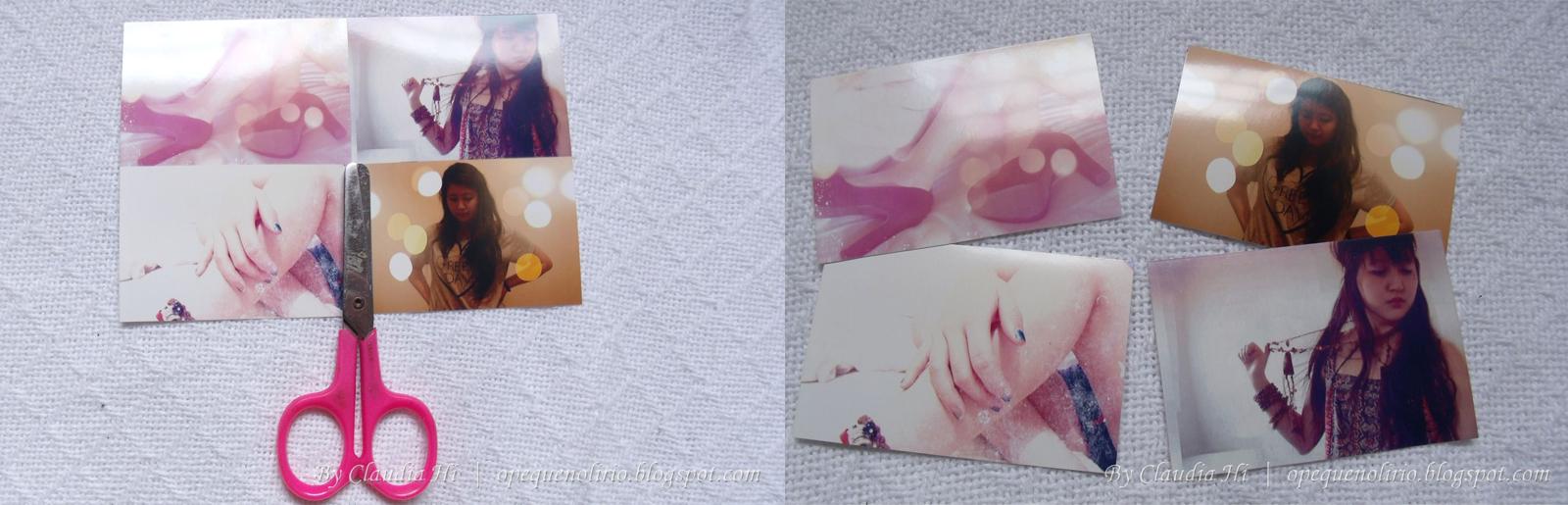 4 fotos, quatro, cortar, cortando, photo