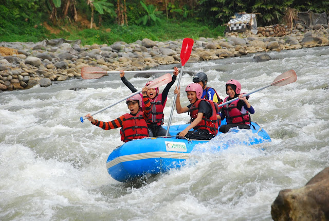 Rafting in Serayu River, Kutayasa Village, Banjarnegara