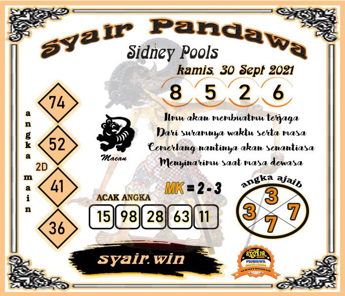 Syair Pandawa Sdy Kamis 30-09-2021