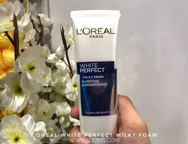 loreal white perfect facial milky foam review