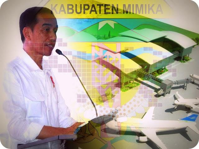 Pemkab Mimika Harapkan Presiden Jokowi Percepat Pembangunan Bandara Mozes Kilangin