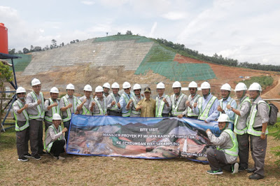 Manager Proyek PT.Wijaya Karya se Indonesia Site Visit ke Bendungan Way Sekampung Pringsewu