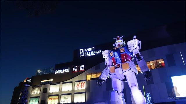 Gundam Asli di Tokyo