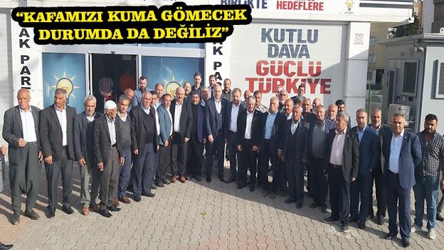 Bozovalı çiftçiler, Sulama Birlikleri sorunlarını AK Parti'ye taşıdı