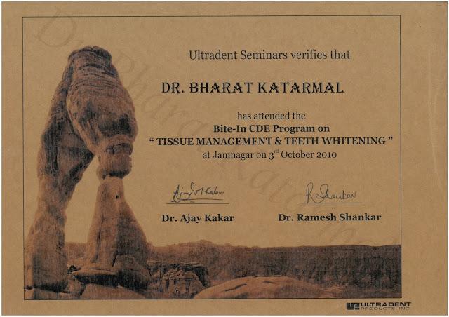 Tissue Management and Teeth Whitening by Dr Ajay Kakar and Dr. Ramesh Shankar at Jamnagar
