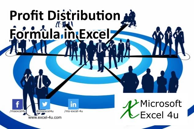 Profit Distribution Formula in Excel
