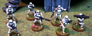 A squad of Imperial Stormtoopers for Legion