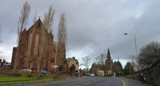 Alrededores de la Catedral de Glasgow.