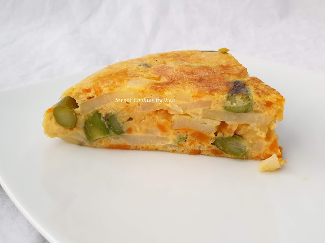 tortilla espárragos patata boniato